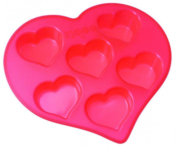 Форма для выпечки и заморозки Сердечки, силиконовая, цвет: красный, 6 ячеек391602Форма для выпечки и заморозки Regent Inox Сердечки выполнена из силикона и предназначена для изготовления конфет, мармелада, желе, льда и выпечки. На одном листе расположено 6 небольших ячеек в форме сердечек. Оригинальный способ подачи изделий не оставит равнодушными родных и друзей.Силиконовые формы выдерживают высокие и низкие температуры (от -40°С до +230°С). Они эластичны, износостойки, легко моются, не горят и не тлеют, не впитывают запахи, не оставляют пятен. Силикон абсолютно безвреден для здоровья.Не используйте моющие средства, содержащие абразивы. Можно мыть в посудомоечной машине. Подходит для использования во всех типах печей.Формы для выпечки и заморозки Regent Inox - отличный подарок! Они удобны и необходимы любой хозяйке! Характеристики:Материал: силикон. Общий размер формы: 26,5 см х 25,5 см х 4 см. Размер одной ячейки: 7 см х 7 см х 3,5 см. Размер упаковки: 29,5 см х 33 см х 4,5 см. Изготовитель: Италия. Артикул: 93-SI-FO-19.
