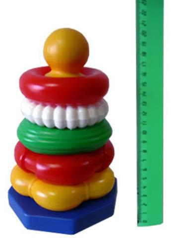 Пирамидка Ассорти , Строим вместе счастливое детство (СВСД), Развивающие игрушки  - купить со скидкой