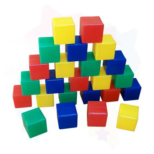 Кубики Junior , 24 элемента, Строим вместе счастливое детство, Развивающие игрушки  - купить со скидкой