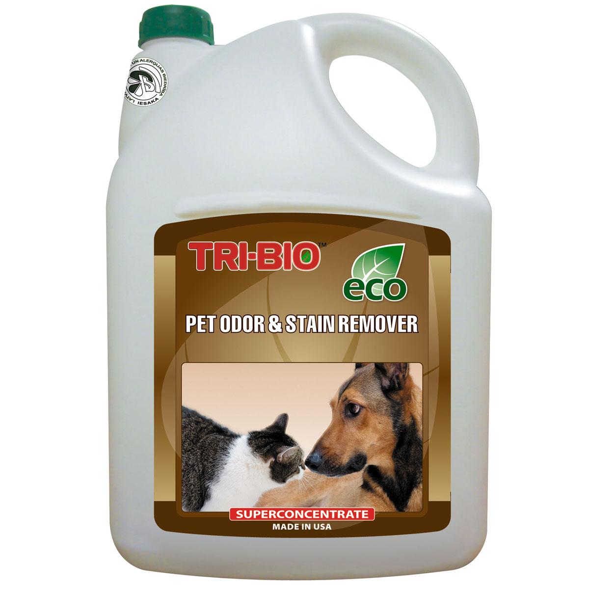 Биосредство Tri-Bio для удаления запахов и пятен от домашних животных, 4,4 л68/5/3Биосредство Tri-Bio моментально и полностью уничтожает неприятные запахи и пятна мочи, испражнений и других выделений животных с ковров, мягкой мебели, дерева, ламинита и любой другой поверхности. Ликвидирует неприятные запахи, не маскируя их, a устраняя их причину. Абсолютно безопасно для всех типов поверхностей. В отличие от стандартных химических продуктов, легко проникает в швы, позволяет обеспечить более длительный контроль запаха и более глубокую чистку. Абсолютно безвредно для животных!Особенности биосредства Tri-Bio для здоровья:Без фосфатов, без растворителей, без хлора отбеливающих веществ, без абразивных веществ, без красителей, без токсичных веществ, нейтральный pH. Безопасная альтернатива химическим аналогам. Присвоен сертификат ECO GREEN.Особенности биосредства Tri-Bio для окружающей среды:Низкий уровень ЛОС, легко биоразлагаемо, минимальное влияние на водные организмы, рециклируемые упаковочные материалы, не испытывалось на животных. Особо рекомендуется использовать в домах с автономной канализацией.Способ применения:Хорошо взболтайте средство. Пропитайте средством проблемную зону и оставьте высыхать. Для удаления пятен, потрите влажной щеткой, затем промокните губкой. Для мойки разбавьте 50 мл средства на ведро воды.Примечание:Проверьте ткань на цветоустойчивость, нанеся средство на скрытый участок ткани. Характеристики:Объем: 4,4 мл. Производитель: США. Артикул: 0079.