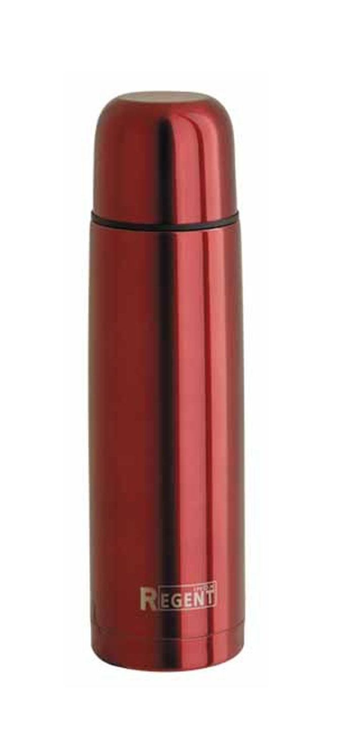 Термос Regent Inox, 0,8 л, цвет: красный. 93-TE-B-1-800R93-TE-B-1-800RТермос Regent Inox изготовлен из высококачественной пищевой нержавеющей стали с современной технологией теплоизоляции и цветным покрытием Soft Touch. Высокая надёжность и долговечность. Имеется глубокий вакуум и двойная металлическая колба, способствующая более длительному сохранению тепла. Термос удобен в использовании дома, на даче, в турпоходе и на рыбалке. Пригодится на работе, в офисе и командировке, экономит электроэнергию и время. Прилагается чехол из кожзама, на ремне. Характеристики:Материал: пластик, нержавеющая сталь, покрытие Soft Touch. Объем: 0,8 л. Диаметр термоса: 8 см. Высота термоса (с учётом крышки): 30,5 см. Размер упаковки: 9 см х 9 см х 31 см. Артикул: 93-TE-B-1-800R.