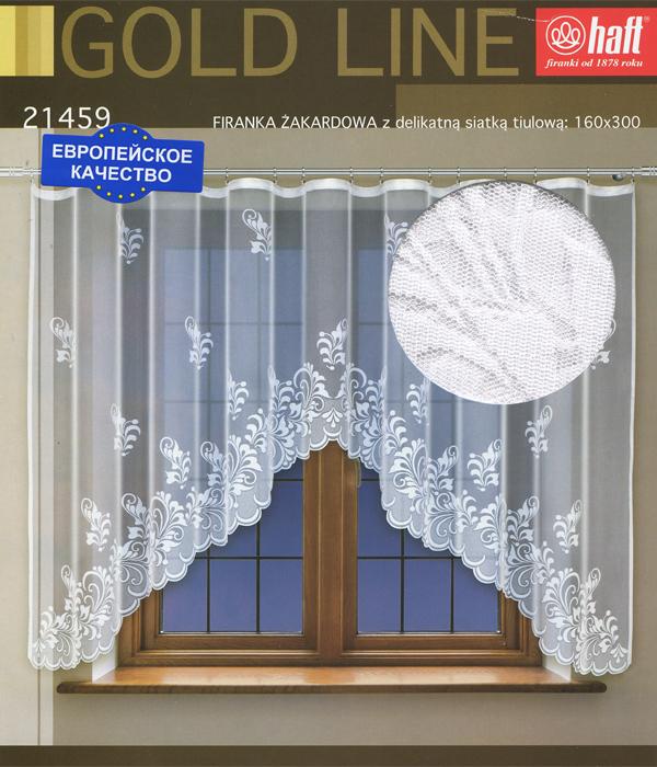 Гардина Haft, на ленте, цвет: белый, высота 160 см. 645184S03301004Воздушная гардина Haft, изготовленная из полиэстера белого цвета, станет великолепным украшением любого окна. Нежный орнамент привлечет к себе внимание и органично впишется в интерьер комнаты. В гардину вшита шторная лента. Характеристики:Материал: 100% полиэстер. Размер упаковки:37 см х 28 см х 3 см. Цвет: белый. Артикул: 645184.В комплект входит: Гардина - 1 шт. Размер (Ш х В): 300 см х 160 см. Текстильная компания Haft имеет богатую историю. Основанная в 1878 году в Польше, эта фирма зарекомендовала себя в качестве одного из лидеров текстильной промышленности в Европе. Еще в начале XX века фабрика Haft производила 90% всех текстильных изделий в своей стране, с годами производство расширялось, накопленный опыт позволял наиболее выгодно использовать развивающиеся технологии. Главный ассортимент компании - это тюль и занавески. Haft предлагает готовые решения дляваших окон, выпуская готовые наборы штор, которые остается только распаковать и повесить. Модельный ряд отличает оригинальный дизайн, высокое качество. Занавески, шторы, гардины Haft долговечны, прочны, практически не сминаемы, они не притягивают пыль и за ними легко ухаживать.Вся продукция бренда Haft выполнена на современном оборудовании из лучших материалов.