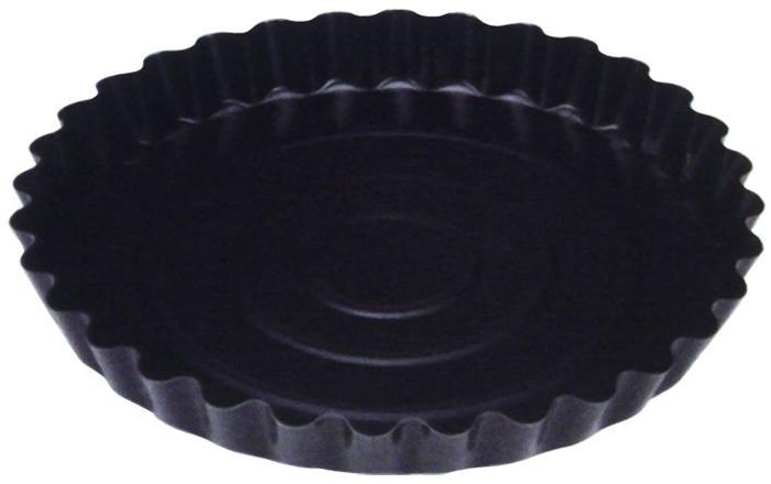 Форма для пирога Regent Inox Easy. Диаметр 28 см0801130Форма для пирога Regent Inox Easy с волнистыми внутренними краями выполнена из высококачественной углеродистой стали и снабжена антипригарным керамическим покрытием, что обеспечивает форме прочность и долговечность.Форма равномерно и быстро прогревается, что способствует лучшему пропеканию пищи. Данную форму легко чистить. Готовая выпечка без труда извлекается из формы.Форма подходит для использования в духовке с максимальной температурой 250°С.Перед каждым использованием форму необходимо смазать небольшим количеством масла. Чтобы избежать повреждений антипригарного покрытия, не используйте металлические или острые кухонные принадлежности. Можно мыть в посудомоечной машине. Характеристики:Материал: углеродистая сталь, керамическое покрытие.Цвет: черный.Внешний диаметр: 28 см.Высота стенок: 3,5 см.Размер упаковки: 29 см х 34 см х 29 см.Артикул: 93-CS-EA-4-06.