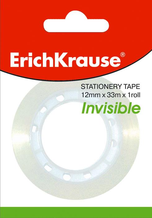 Клейкая лента Erich Crause Invisible, цвет: прозрачныйFS-00261Клейкая лента Erich Crause Invisible -универсальный помощник в доме и офисе. Лента предназначена для склеивания документов, упаковки, картона, имеет сильный клеящий состав. Незаметна на факс-копиях, банкнотах и фотографиях. Матовая поверхность позволяет писать на ней. Характеристики:Диаметр рулона: 5,5 см. Длина ленты (в одном рулоне): 33 м. Ширина ленты: 1,2 см. Изготовитель:Китай.