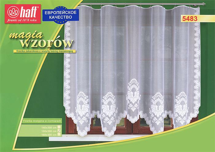 Гардина Haft, на ленте, цвет: белый, высота 150 см. 489733BH-UN0502( R)Воздушная гардина Haft, изготовленная из полиэстера белого цвета, станет великолепным украшением любого окна. Оригинальный нежный орнамент привлечет к себе внимание и органично впишется в интерьер комнаты. В гардину вшита шторная лента. Характеристики:Материал: 100% полиэстер. Размер упаковки:37 см х 28 см х 3 см. Цвет: белый. Артикул: 489733.В комплект входит: Гардина - 1 шт. Размер (Ш х В): 300 см х 150 см. Текстильная компания Haft имеет богатую историю. Основанная в 1878 году в Польше, эта фирма зарекомендовала себя в качестве одного из лидеров текстильной промышленности в Европе. Еще в начале XX века фабрика Haft производила 90% всех текстильных изделий в своей стране, с годами производство расширялось, накопленный опыт позволял наиболее выгодно использовать развивающиеся технологии. Главный ассортимент компании - это тюль и занавески. Haft предлагает готовые решения дляваших окон, выпуская готовые наборы штор, которые остается только распаковать и повесить. Модельный ряд отличает оригинальный дизайн, высокое качество. Занавески, шторы, гардины Haft долговечны, прочны, практически не сминаемы, они не притягивают пыль и за ними легко ухаживать.Вся продукция бренда Haft выполнена на современном оборудовании из лучших материалов.