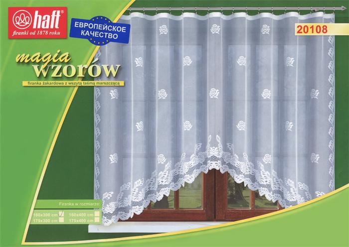 Гардина Haft, на ленте, цвет: белый, высота 160 см. 517658S03301004Воздушная гардина Haft, изготовленная из полиэстера белого цвета, станет великолепным украшением любого окна. Оригинальный принт в виде нежного цветочного рисунка привлечет к себе внимание и органично впишется в интерьер комнаты. В гардину вшита шторная лента. Характеристики:Материал: 100% полиэстер. Размер упаковки:37 см х 28 см х 3 см. Цвет: белый. Артикул: 517658.В комплект входит: Гардина - 1 шт. Размер (Ш х В): 300 см х 160 см. Текстильная компания Haft имеет богатую историю. Основанная в 1878 году в Польше, эта фирма зарекомендовала себя в качестве одного из лидеров текстильной промышленности в Европе. Еще в начале XX века фабрика Haft производила 90% всех текстильных изделий в своей стране, с годами производство расширялось, накопленный опыт позволял наиболее выгодно использовать развивающиеся технологии. Главный ассортимент компании - это тюль и занавески. Haft предлагает готовые решения дляваших окон, выпуская готовые наборы штор, которые остается только распаковать и повесить. Модельный ряд отличает оригинальный дизайн, высокое качество. Занавески, шторы, гардины Haft долговечны, прочны, практически не сминаемы, они не притягивают пыль и за ними легко ухаживать.Вся продукция бренда Haft выполнена на современном оборудовании из лучших материалов.