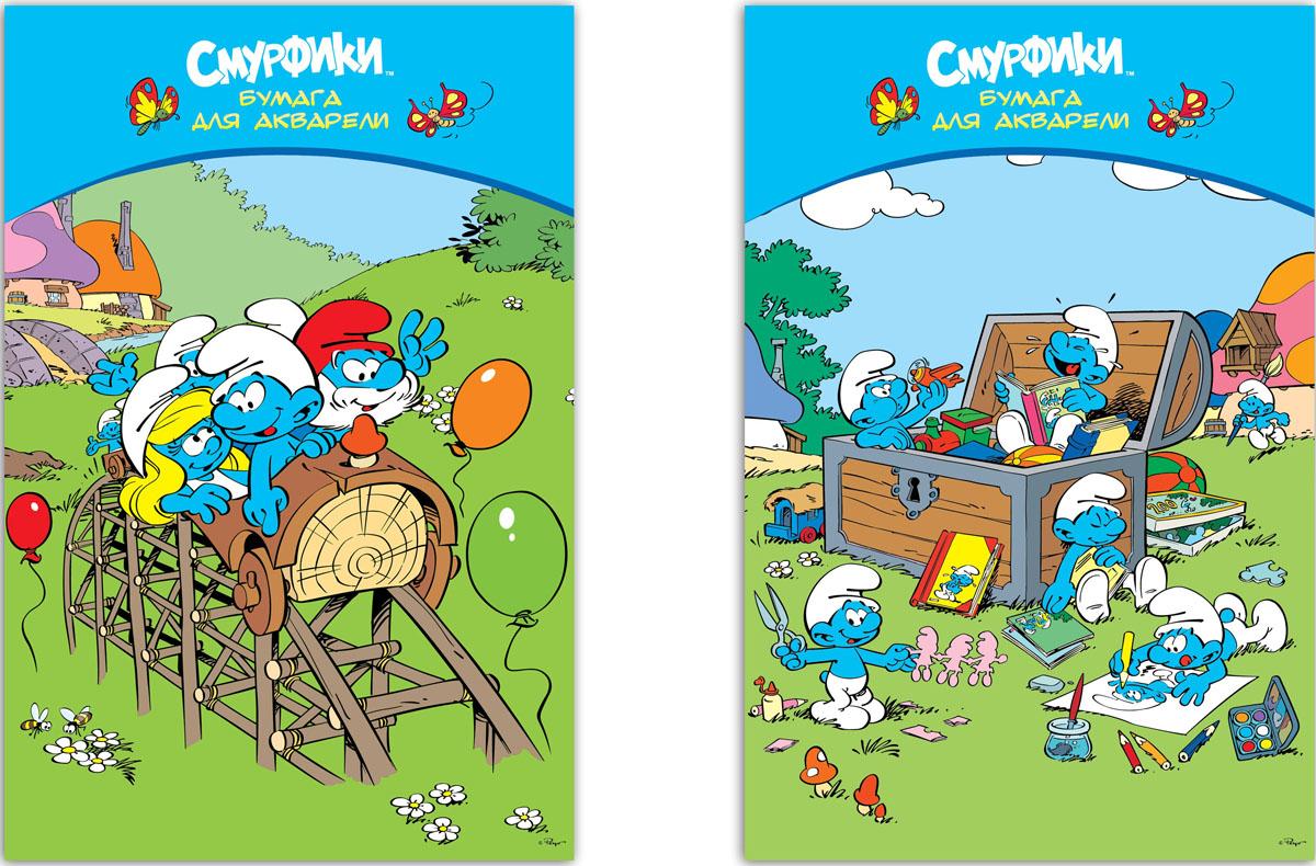"""Бумага """"Смурфики"""" создана специально для рисования акварельными красками. Оригинальная структура полотна позволит достичь максимального отражения оттенков. Комплект содержит десять листов бумаги форматом А3, упакованных в картонную папку с изображением персонажей популярного мультфильма """"Смурфики""""."""