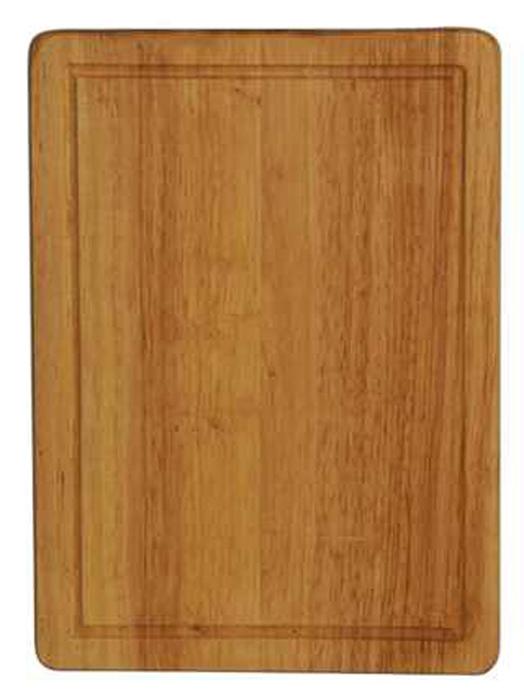 Доска разделочная Regent Inox, из гевеи, 31 х 22,5 х 1,5 смVS-2721Прямоугольная разделочная доска Regent Inox изготовлена из высококачественной древесины - гевеи. Доска имеет углубление для стока жидкости вдоль края. Прекрасно подходит для приготовления и сервировки пищи.Гевея - высококачественная порода каучукового дерева. Доски из гевеи, по сравнению с досками, изготовленными из других материалов, обладают следующими преимуществами:- долговечность- практичность- устойчивость к механическим нагрузкам- водоотталкивающие свойства- не впитывают запахи- не расслаиваются и не рассыхаются- не тупят ножи- оригинальный дизайн. На кухне рекомендуется иметь несколько досок, для различных продуктов: для мяса и птицы, для рыбы, для готовых продуктов, для хлеба, овощей и фруктов. Regent Inox предлагает на выбор несколько размеров и форм разделочных досок, а так же кухонные аксессуары из дерева. Характеристики:Материал: гевея. Размер:31 см х 22,5 см х 1,5 см. Артикул:93-BO-2-03.