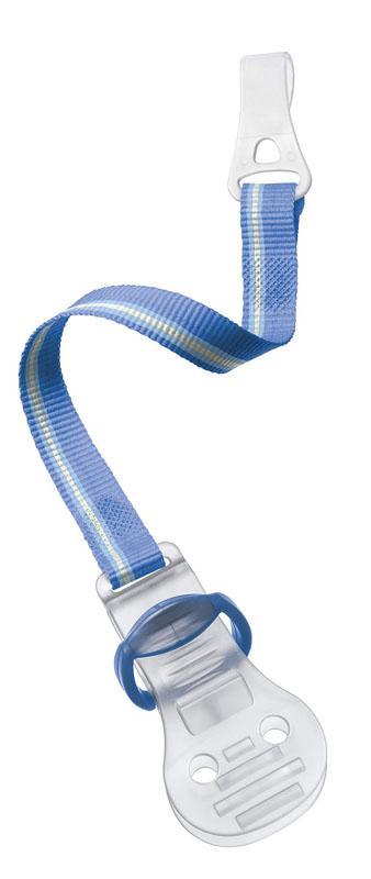 """Клипса-держатель для пустышки """"Avent"""" изготовлена из безвредного полипропилена без содержания BPA. С таким держателем вы сможете избежать ситуации, когда пустышка падает, теряется или становится грязной. Клипса-держатель """"Avent"""" снабжена мягким текстильным ремешком, который прикрепляется к пустышке, а сама клипса легко пристегивается к нагруднику, одежде ребенка или коляске."""