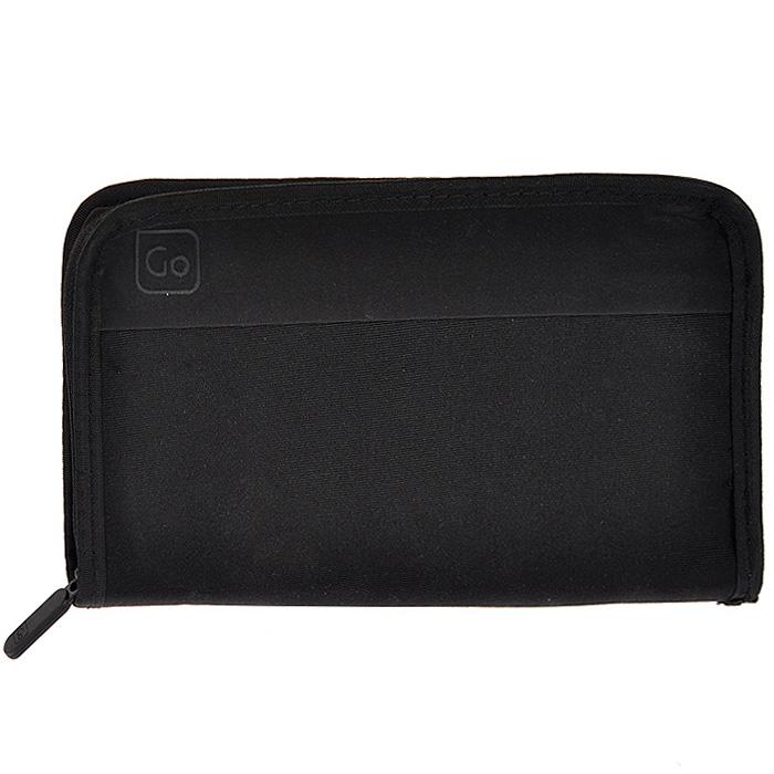 Кошелек Travel Wallet, цвет: черный. 314 DG1-022_516Дорожный кошелек Travel Wallet предназначен для хранения документов и кредитных карт во время поездок, оснащен замком-молнией.Кошелек выполнен из полиэстера черного цвета. Имеет два кармашка для документов и семь накладных карманов для кредитных карт. На задней стороне имеется карман на липучке. Оснащен фиксатором для крепления на пояс.Идеален для тех, кто часто путешествует: легкий и приятный на ощупь материал и компактные размеры позволяют надежно сохранить ваши документы, не занимая много места и не доставляя дискомфорта. ХарактеристикиМатериал: полиэстер. Цвет:черный. Размер кошелька:23 см х 13,5 см х 1,5 см. Размер упаковки:23 см х 19 см х 3 см. Изготовитель:Китай. Артикул: 314 DG.