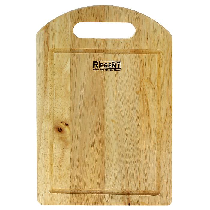 Доска разделочная Regent Inox, из гевеи, 30 х 20 х 1,2 смTK 0175Прямоугольная разделочная доска Regent Inox изготовлена из высококачественной древесины - гевеи. Доска имеет углубление для стока жидкости вдоль края и специальное отверстие, при помощи которого ее можно подвесить в удобном месте. Прекрасно подходит для приготовления и сервировки пищи.Гевея - высококачественная порода каучукового дерева. Доски из гевеи, по сравнению с досками, изготовленными из других материалов, обладают следующими преимуществами:- долговечность- практичность- устойчивость к механическим нагрузкам- водоотталкивающие свойства- не впитывают запахи- не расслаиваются и не рассыхаются- не тупят ножи- оригинальный дизайн. На кухне рекомендуется иметь несколько досок, для различных продуктов: для мяса и птицы, для рыбы, для готовых продуктов, для хлеба, овощей и фруктов. Regent Inox предлагает на выбор несколько размеров и форм разделочных досок, а так же кухонные аксессуары из дерева. Характеристики:Материал: гевея. Размер:30 см х 20 см х 1,2 см. Артикул:93-BO-1-04.