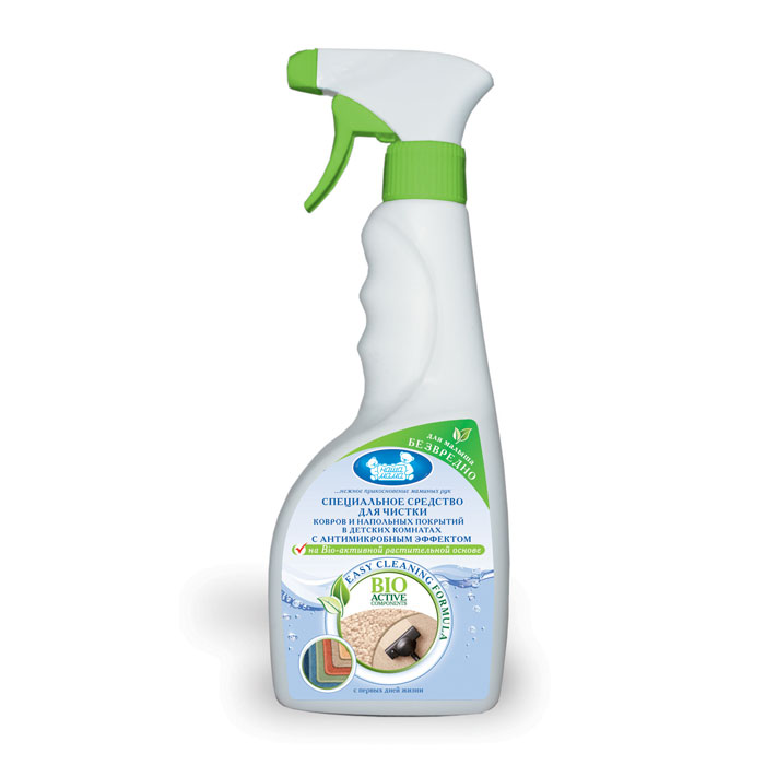 Наша Мама Средство для чистки ковров и напольных покрытий, с антимикробным эффектом, 500 мл70501Средство предназначено для выведения пятен с ковров и напольных покрытий из натуральных и синтетических волокон. Обладает антибактериальным и антисептическим эффектом. Формула BIO ACTIVE на растительной основе не содержит агрессивных химических веществ. Без запаха.Применение: проведите сухую чистку пылесосом. Путем распыления нанесите средство на поверхность ковра или напольного покрытия. Сильно загрязненные места и пятна обработать повторно. Время выдержки 20 минут. Затем моющий состав с частицами гряди удалить вакуумным способом при помощи моющего или обычного пылесоса. Характеристики: Объем: 500 мл. Товар сертифицирован. Сегодня Наша Мама - лидер на российском рынке товаров для детей, беременных женщин и кормящих мам, единственный российский производитель полной серии качественной гипоаллергенной продукции по уходу за беременными женщинами, кормящими мамами и детьми. Вся продукция компании имеет высочайшую степень гигиеничности и безопасности даже для самых маленьких потребителей.