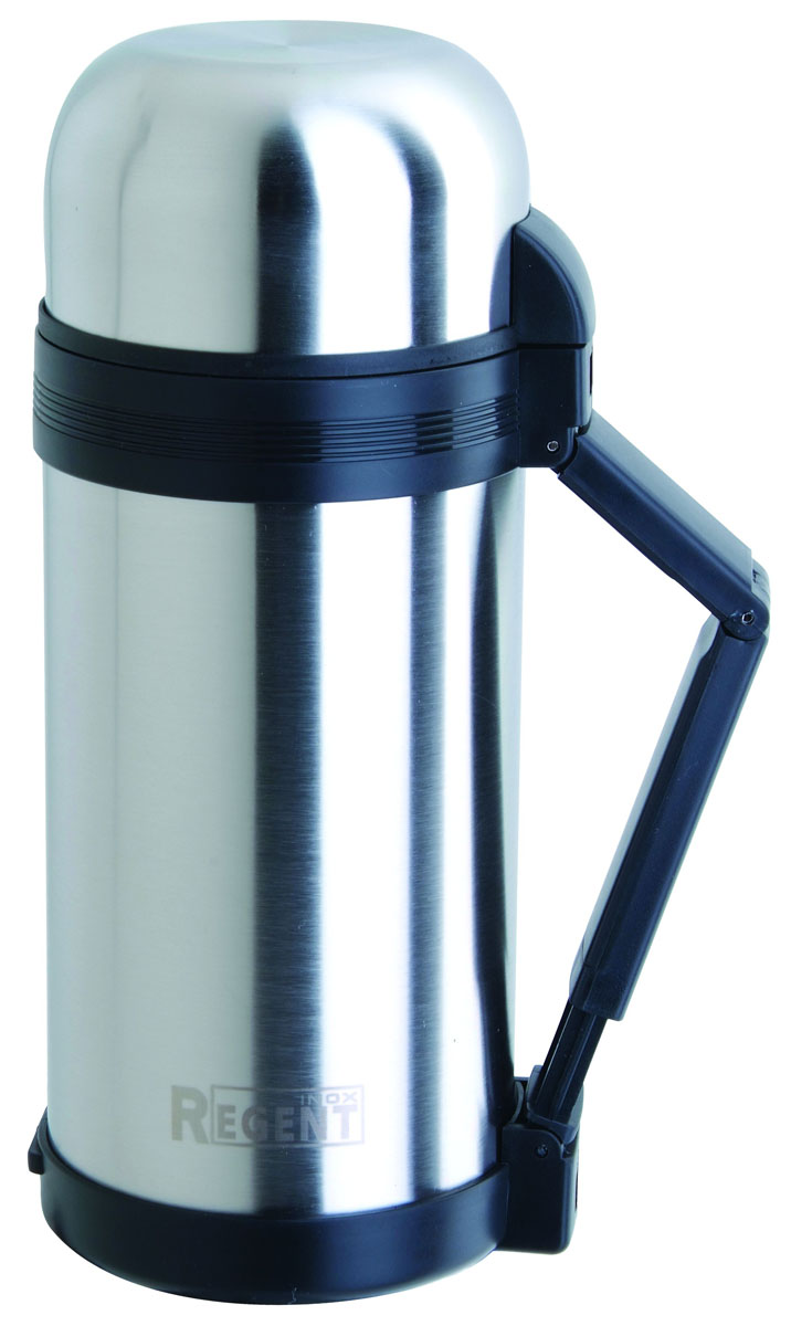 Термос Regent Inox, 1,8 л. 93-TE-U-1-1800836496Термос Regent Inox изготовлен из высококачественной пищевой нержавеющей стали с современной технологией теплоизолляции. Высокая надёжность и долговечность. Имеется глубокий вакуум и двойная металлическая колба, способствующая более длительному сохранению тепла. Термос удобен в использовании дома, на даче, в турпоходе и на рыбалке. Пригодится на работе, в офисе и командировке, экономит электроэнергию и время. Удобная ручка-ремень сделает переливание жидкостей более комфортным. Характеристики:Материал: пластик, нержавеющая сталь, резина. Объем: 1,8 л. Диаметр термоса: 10,5 см. Высота термоса (с учётом крышки): 35 см. Размер упаковки: 12 см х 12 см х 36,5 см. Артикул: 93-TE-U-1-1800.