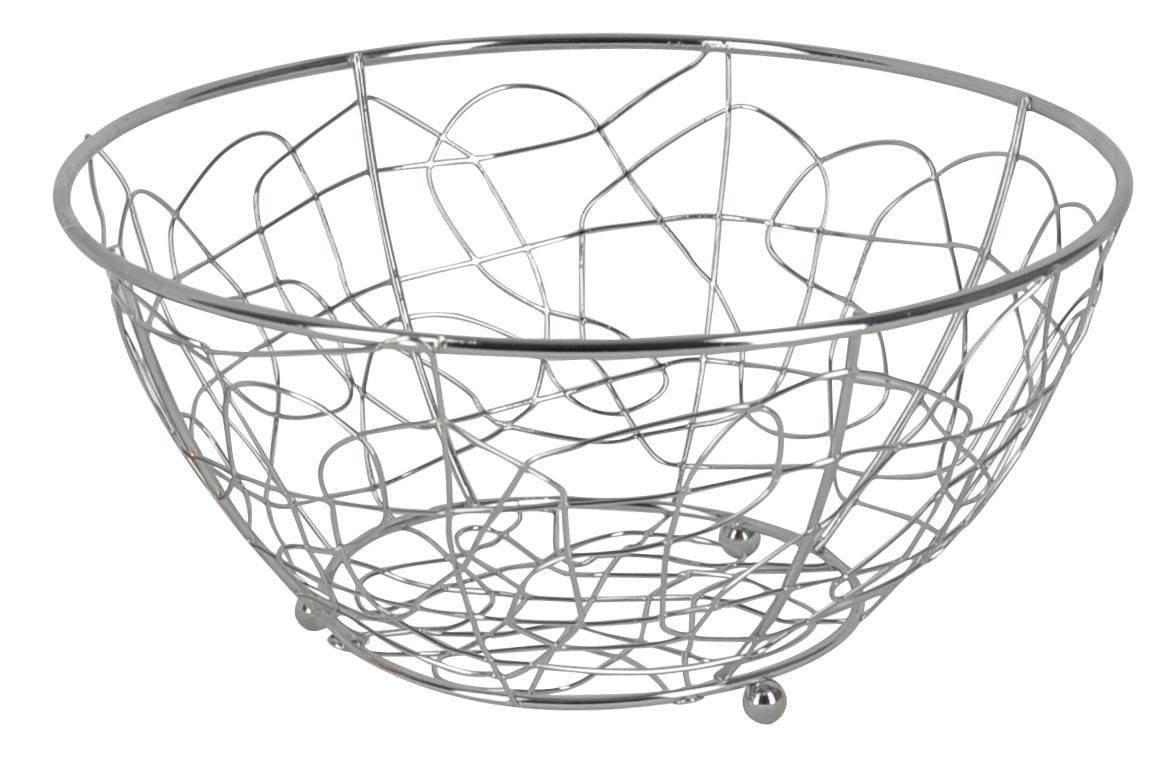 Фруктовница Trina, круглая. 93-TR-01-01115510Современный дизайн фруктовницыTrina, изготовленной из хромированной стали, идеально впишется в интерьер современной кухни. Выполнена в виде чаши, стенки которой состоят из переплетений металлических прутков. Фруктовница имеет ножки с металлическими шариками - для устойчивости. Характеристики:Материал:хромированная сталь. Размер: 23 см х 23 см х 12 см. Размер упаковки: 23,5 см х 23,5 см х 12,2 см. Производитель: Италия. Артикул:93-TR-01-01.