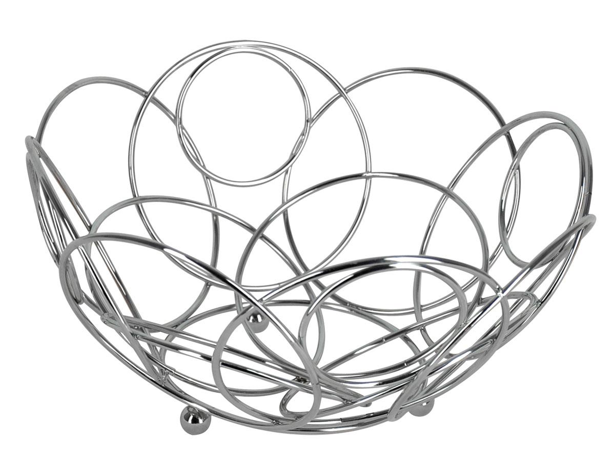 Фруктовница круглая Trina. 93-TR-01-14115510Современный дизайн фруктовницыTrina, изготовленной из хромированной стали, идеально впишется в интерьер современной кухни. Фруктовница выполнена в виде чаши, стенки которой состоят из металлических кругов разных размеров. Фруктовница имеет ножки с металлическими шариками - для устойчивости. Характеристики:Материал:хромированная сталь. Размер: 25 см х 25 см х 12,5 см. Размер упаковки: 25,5 см х 25,5 см х 13 см. Производитель: Италия. Артикул:93-TR-01-14.
