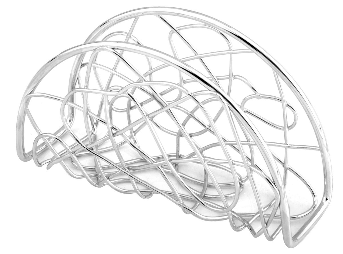 Салфетница Trina. 93-TR-02-05115510Салфетница Trina - это целое произведение искусства выполненное из прутка. Замысловатые завитки позволяют выглядеть салфетнице очень стильно и воздушно. Приобретите этот предмет сервироки и увидите, как приобразиться Ваш стол. Характеристики:Материал:хромированная сталь. Размер: 16 см х 11 см х 5 см. Размер упаковки: 16,5 см х 11,5 см х 5,2 см. Производитель: Италия. Артикул:93-TR-02-05.