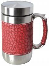 Кружка-термос Regent Inox Gotto, цвет: красный, 0,52 л93-TE-GO-1-520.2Кружка-термос Regent Inox Gotto удобна для использования в быту, походе и путешествиях. Прекрасно сохраняет температуру напитка. Универсальна, для горячих и холодных напитков. Защищает руки от ожогов, внешняя стенка не нагревается. Компактна, удобна в использовании. Полированная поверхность легко моется. Надежна и долговечна. Экологически безопасна. Характеристики:Материал: металл, кожзам, пластик. Объем термоса:520 мл. Высота термоса (с учетом крышки):16 см. Диаметр основания термоса:8 см. Размер упаковки:17 см х 12 см х 9 см.