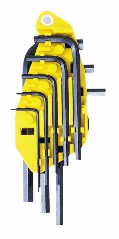 Набор шестигранников Stanley(дюйм), 8 шт0-84-053Набор шестигранников Stanley изготовлен из высокопрочной стали. Для быстрого распознавания ключей имеется маркировка, находящаяся на корпусе. В комплекте 8 ключей. Характеристики: Материал: пластик, металл. Размеры ключей: 1/4, 7/32, 3/16, 5/32, 1/8, 3/32, 5/64, 1/16. Размеры упаковки: 19,5 см х 7,5 см х 2,5 см.