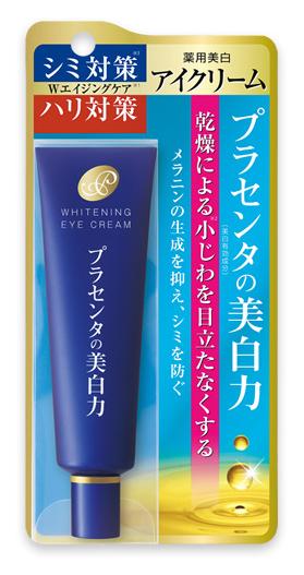 Meishoku Крем для кожи вокруг глаз, с экстрактом плаценты, с отбеливающим эффектом, 30 г236020Антивозрастное средство Meishoku с двойным эффектом. Великолепно увлажняет и подтягивает кожу, разглаживает морщинки, делает кожу вокруг глаз гладкой и упругой. Предупреждает появление пигментных пятен. Сила разглаживания и отбеливания кожи - в плаценте!Крем глубоко увлажняет кожу вокруг глаз, придает коже упругость и эластичность. Активные компоненты в составе средства обладают увлажняющими, восстанавливающими и отбеливающими свойствами. Благодаря такому уходу кожа разглаживается, морщинки становятся менее заметными. Коллаген глубоко увлажняет кожу вокруг глаз, возвращая ей упругость.Экстракты перловой крупы и шелковицы обладают отбеливающими свойствами, осветляют кожу. Экстракт плаценты регулирует образование меланина в клетках кожи, предупреждая появления пигментных пятен и веснушек. Предотвращает сухость, увлажняет, поддерживает оптимальный уровень влаги в клетках кожи. Кожа становится более здоровой и сияющей. В составе средства используется экстракт плаценты высокой очистки и только собственного производства. Характеристики:Вес: 30 г. Артикул: 236020. Производитель: Япония. Товар сертифицирован.