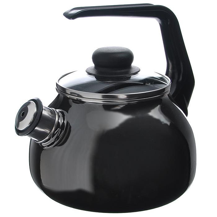 Чайник Bon Appetit со свистком, цвет: мокрый асфальт, 2 л391602Чайник Bon Appetit изготовлен из высококачественного стального проката со стеклокерамическим покрытием. Корпус - цвета мокрый асфальт. Стеклокерамика инертна и устойчива к пищевым кислотам, не вступает во взаимодействие с продуктами и не искажает их вкусовые качества. Прочный стальной корпус обеспечивает эффективную тепловую обработку пищевых продуктов и не деформируется в процессе эксплуатации.Чайник оснащен черной пластиковой удобной ручкой. Крышка чайника выполнена из стекла с пароотводном, что позволяет сохранять тепло. Носик чайника с насадкой-свистком позволит вам контролировать процесс подогрева или кипячения воды.Чайник Bon Appetit пригоден для использования на всех видах плит, включая индукционные. Можно мыть в посудомоечной машине. Характеристики:Материал: нержавеющая сталь, пластик, стекло. Цвет: мокрый асфальт. Объем: 2 л. Диаметр основания чайника: 18 см. Высота чайника (с учетом ручки): 22 см. Размер упаковки: 20 см х 25 см х 20 см. Артикул: 8RA12.