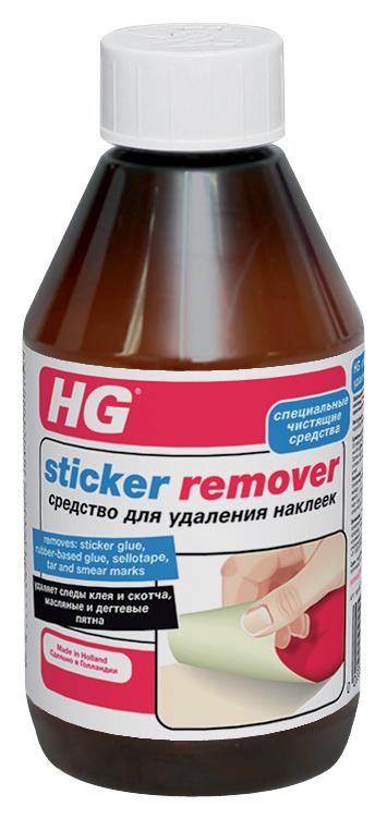 Средство HG для удаления наклеек, 300 млVCA-00Эффективное средство для бесследного удаления наклеек, остатков клея, следов от скотча, масляных и дегтевых пятен со всех видов поверхностей. Характеристики: Объем: 300 мл. Размер упаковки: 22 см х 5,5 см х 6 см.
