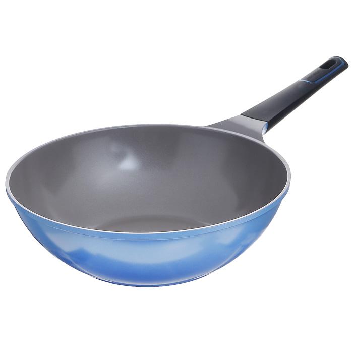 Сотейник Frybest Azure, цвет: голубой, серый. Диаметр 30 cм