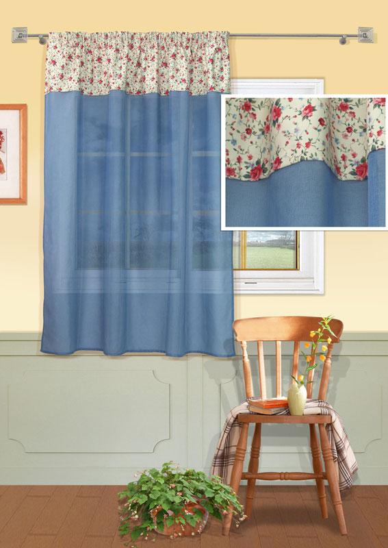 Штора Kauffort Номад, на ленте, цвет: голубой, высота 165 смUN111023640Штора Kauffort Номад выполнена из качественного полиэстера. Верхняя часть шторы выполнена из плотного материала молочного цвета с цветочным рисунком. Нижняя часть - из полупрозрачной сетчатой ткани голубого цвета.Качественный материал, оригинальный дизайн и приятная цветовая гамма привлекут к себе внимание и органично впишутся в интерьер помещения. Изделие оснащено шторной лентой для красивой сборки.Штора Kauffort Номад великолепно украсит любое окно. Характеристики: Материал: 100% полиэстер. Цвет: голубой. Размер упаковки: 37 см х 27 см х 3 см. Артикул: UN111023640.В комплект входит: Штора - 1 шт. Размер (Ш х В): 146 см х 165 см (отклонение размера ~ 1,5%).