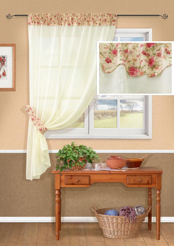 Штора Kauffort Мантис, на ленте, цвет: бежевый, высота 170 смUN111035615Штора Kauffort Мантис выполнена из полиэстера. Основная часть шторы изготовлена из полотна бежевого цвета с полупрозрачным сетчатым плетением. Верхняя часть выполнена из плотного непрозрачного полиэстера кремового цвета с цветочным рисунком. Для более изящного расположения шторы на окне прилагается подхват.Качественный материал, оригинальный дизайн и приятная цветовая гамма привлекут к себе внимание и органично впишутся в интерьер помещения. Изделие оснащено шторной лентой для красивой сборки.Штора Kauffort Мантис великолепно украсит любое окно. Характеристики: Материал: 100% полиэстер. Цвет: бежевый. Размер упаковки: 37 см х 27 см х 3 см. Артикул: UN111035615.В комплект входит: Штора - 1 шт. Размер (Ш х В): 150 см х 170 см (отклонение размера ~1,5%). Подхват - 1 шт. Размер (Ш х В): 8 см х 70 см.УВАЖАЕМЫЕ КЛИЕНТЫ!Обращаем ваше внимание, что в комплект входит одна штора. Вторая штора на фотографии служит для визуального восприятия товара.