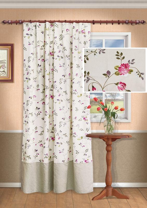 Штора Kauffort Мария, на ленте, цвет: розовый, высота 275 см732456Роскошная штора Kauffort Мария выполнена из качественного материала, состоящего из хлопа и полиэстера. Верх шторы выполнен из полотна светло-бежевого цвета с рисунком в виде розовых цветов, низ шторы - из однотонного полотна бежевого цвета. Для более изящного расположения шторы на окне прилагается подхват.Качественный материал, оригинальный дизайн и приятная цветовая гамма привлекут к себе внимание и органично впишутся в интерьер помещения. Изделие оснащено шторной лентой для красивой сборки.Штора Kauffort Мария великолепно украсит любое окно. Характеристики: Материал: 46% полиэстер, 54% хлопок. Цвет: розовый. Размер упаковки: 37 см х 27 см х 4 см. Артикул: UN111305170.В комплект входит: Штора - 1 шт. Размер (Ш х В): 138 см х 275 см (отклонение размера ~ 1,5%). Подхват - 1 шт. Размер (Ш х Д): 8 см х 66 см.