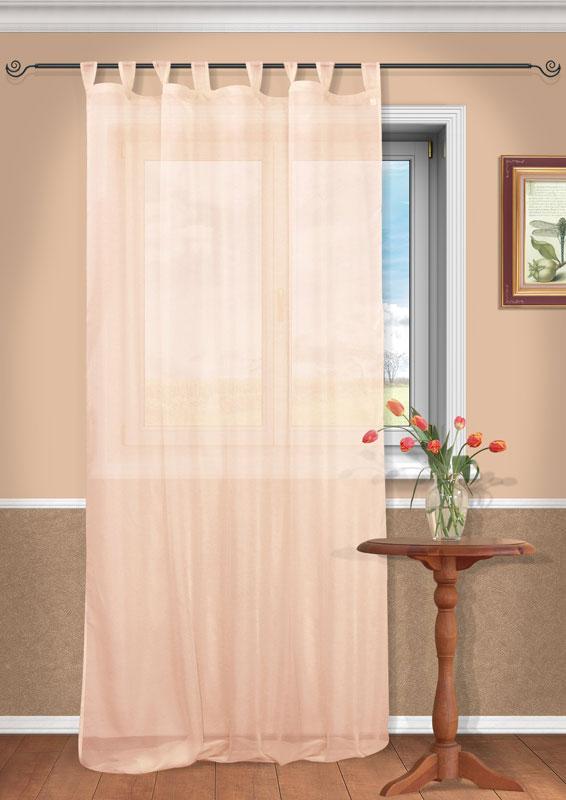 Штора Kauffort Анастасия, на петлях, цвет: персиковый, высота 290 см437994Воздушная штора Kauffort Анастасия, выполненная из полупрозрачной вуали персикового цвета, станет великолепным украшением любого окна. Тонкое плетение и нежная цветовая гамма привлекут к себе внимание и органично впишутся в интерьер помещения. Штора оснащена петлями для крепления на круглый карниз и шторной лентой для красивой сборки. Характеристики: Материал: 100% полиэстер. Цвет: персиковый. Размер упаковки: 37 см х 27 см х 2 см. Артикул: UN111400170.В комплект входит: Штора - 1 шт. Размер (Ш х В): 150 см х 290 см (отклонение размера ~ 1,5%).