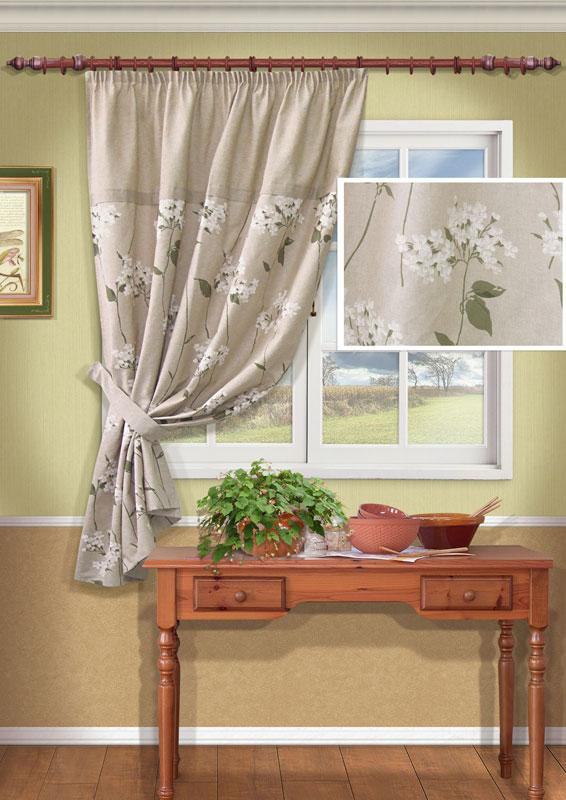 Штора Kauffort Мельба, на ленте, цвет: серый, высота 170 смS03301004Штора Kauffort Мельба выполнена из качественного материала, изготовленного из хлопка и полиэстера. Полотно серого цвета декорировано изящным рисунком в виде белых цветов. Для более изящного расположения шторы на окне прилагается подхват.Качественный материал, оригинальный дизайн и приятная цветовая гамма привлекут к себе внимание и органично впишутся в интерьер помещения. Штора оснащена шторной лентой для красивой сборки. Штора Kauffort Мельба станет великолепным украшением любого окна. Характеристики: Материал: 50% полиэстер, 50% хлопок. Цвет: серый. Размер упаковки: 37 см х 27 см х 4 см. Артикул: UN111452680.В комплект входит: Штора - 1 шт. Размер (Ш х В): 140 см х 170 см (отклонение размера ~1,5%). Подхват - 1 шт. Размер (Ш х В): 8 см х 63 см.