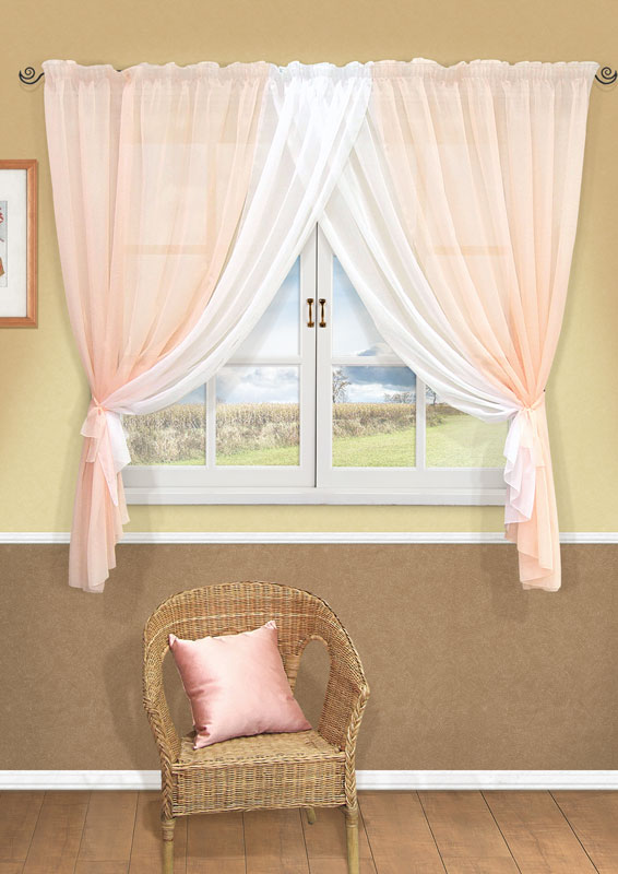 Комплект штор Kauffort Фируз, на ленте, цвет: светло-розовый, высота 160 см524839Комплект штор Kauffort Фируз выполнен из высококачественного полиэстера. Комплект состоит из шторы и двух подхватов. Штора представляет собой два сшитых между собой полотна, выполненных из полупрозрачной тюлевой ткани. Штора оснащена шторной лентой для красивой сборки. Качественный материал, оригинальный дизайн и приятная цветовая гамма привлекут к себе внимание и органично впишутся в интерьер помещения.Комплект штор Kauffort Фируз станет великолепным украшением любого окна. Характеристики: Материал: 100% полиэстер. Цвет: светло-розовый. Размер упаковки: 38 см х 28 см х 3 см. Артикул: UN123001171.В комплект входит: Штора - 1 шт. Размер (Ш х В): 358 см х 160 см (отклонение размера ~ 1,5%). Подхват - 2 шт. Размер (Ш х Д): 8,5 см х 147 см (отклонение размера ~ 1,5%).