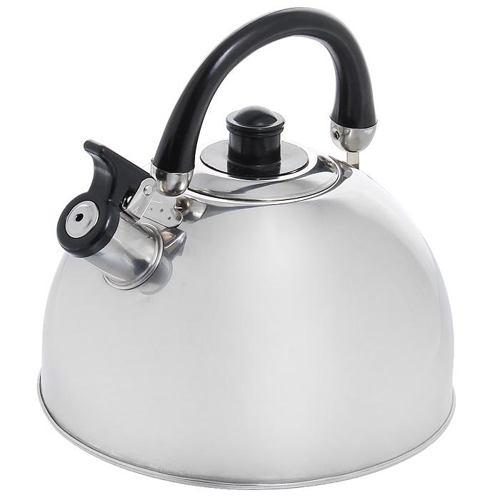 Чайник Appetite со свистком, 3,5 л94672Чайник Appetite изготовлен из высококачественной нержавеющей стали с 3-х слойным термоаккумулирующим дном. Нержавеющая сталь обладает высокой устойчивостью к коррозии, не вступает в реакцию с холодными и горячими продуктами и полностью сохраняет их вкусовые качества. Особая конструкция дна способствует высокой теплопроводности и равномерному распределению тепла. Чайник оснащен черной пластиковой удобной ручкой. Носик чайника имеет откидной свисток, звуковой сигнал которого подскажет, когда закипит вода. Чайник Appetite пригоден для использования на всех видах плит, кроме индукционных. Можно мыть в посудомоечной машине. Характеристики:Материал:нержавеющая сталь, пластик. Объем:3,5 л. Диаметр основания чайника: 22 см. Высота чайника (с учетом ручки):22 см. Высота чайника (без учета ручки):16 см. Размер упаковки: 22 см х 22 см х 18 см. Артикул: MK-3502.