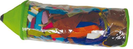 Набор лоскутов De Witte Engel Карандаш, 200 г55052Набор De Witte Engel Карандаш состоит из лоскутов разного цвета и размера, выполненных из войлока. Набор очень удобен для изготовления мелких поделок или мелких деталей, содержит большой цветовой ассортимент лоскутов. Набор упакован в пластиковую сумку-чехол, выполненную в виде карандаша. Характеристики:Материал: войлок (100% шерсть). Вес набора: 200 г. Размер упаковки: 12 см х 12 см х 37 см. Артикул: V69900.