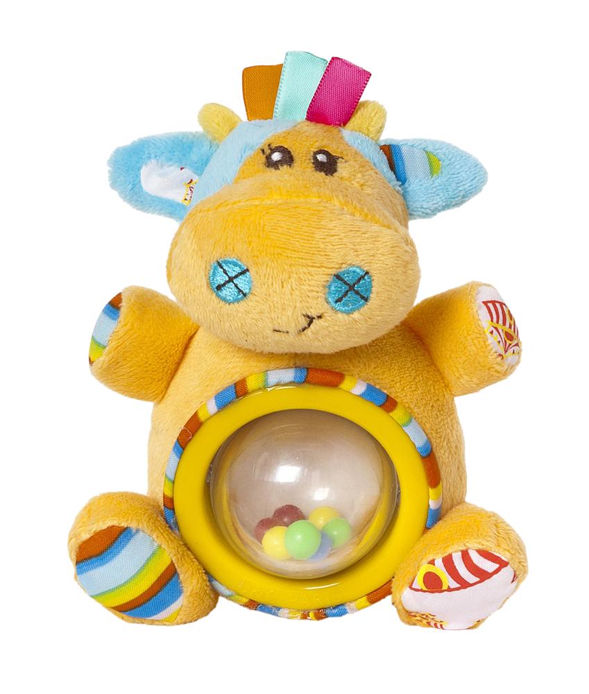 Мир Детства Мягкая игрушка-погремушка Артистка Виолетта цвет круга желтый