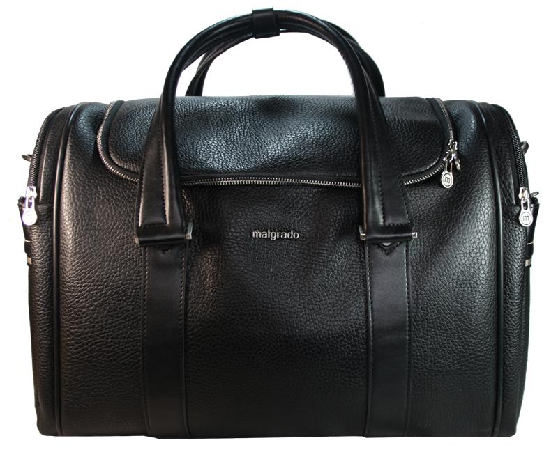 Сумка мужская Malgrado, цвет: черный. BR11-616C1538ML597BUL/DСтильная мужская сумка Malgrado выполнена из натуральной кожи черного цвета. Сумка имеет одно основное отделение, которое закрывается на застежку-молнию. Внутри - вшитый карман на молнии. С боковых сторон сумка содержит по два отделения на молнии. Сумка оснащена двумя удобными ручками и отстегивающимся плечевым ремнем регулируемой длины с накладкой для плеча. Фурнитура - серебристого цвета. На дне имеется 5 пластиковых ножек для предотвращения загрязнений.Стильная мужская сумка Malgrado идеально подойдет для поездок и путешествий, она вместит все необходимые вещи, а также станет стильным аксессуаром, который подчеркнет ваш образ. Характеристики: Материал: натуральная кожа, текстиль, металл. Длина плечевого ремня: 120 см. Высота ручек: 26 см. Цвет: черный. Артикул: BR11-616C1538.