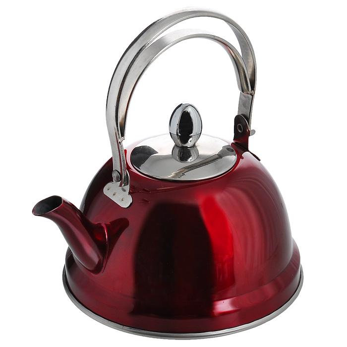 Чайник заварочный Appetite, цвет: красный, 0,7 лVT-1520(SR)Заварочный чайник Appetite изготовлен из высококачественной нержавеющей стали красного цвета. Внутри чайника установлен сетчатый фильтр, который задерживает чаинки и предотвращает их попадание в чашку. Чайник снабжен удобной ручкой.Чай в таком чайнике дольше остается горячим, а полезные и ароматические вещества полностью сохраняются в напитке. Чайник Appetite пригоден для использования на всех видах плит, кроме индукционных. Можно мыть в посудомоечной машине. Диаметр основания чайника: 14 см.Высота чайника (с учетом ручки): 18 см.