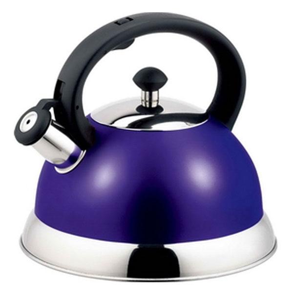 Чайник Appetite со свистком, цвет: фиолетовый, 2,5 л. HSK-H063VT-1520(SR)Чайник Appetite изготовлен из высококачественной нержавеющей стали с 3-х слойным термоаккумулирующим дном. Нержавеющая сталь обладает высокой устойчивостью к коррозии, не вступает в реакцию с холодными и горячими продуктами и полностью сохраняет их вкусовые качества. Особая конструкция дна способствует высокой теплопроводности и равномерному распределению тепла. Чайник оснащен черной пластиковой удобной ручкой, свистком и устройством для открывания носика. Чайник Appetite пригоден для использования на всех видах плит, кроме индукционных. Можно мыть в посудомоечной машине. Характеристики:Материал:нержавеющая сталь, пластик. Цвет:фиолетовый. Объем:2,5 л. Диаметр основания чайника: 22 см. Высота чайника (с учетом ручки):21 см. Размер упаковки: 22,5 см х 22,5 см х 21,5 см. Артикул: HSK-H063.