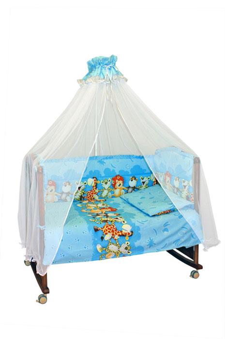 Бампер в кроватку  Африка , цвет: голубой - Детская комната