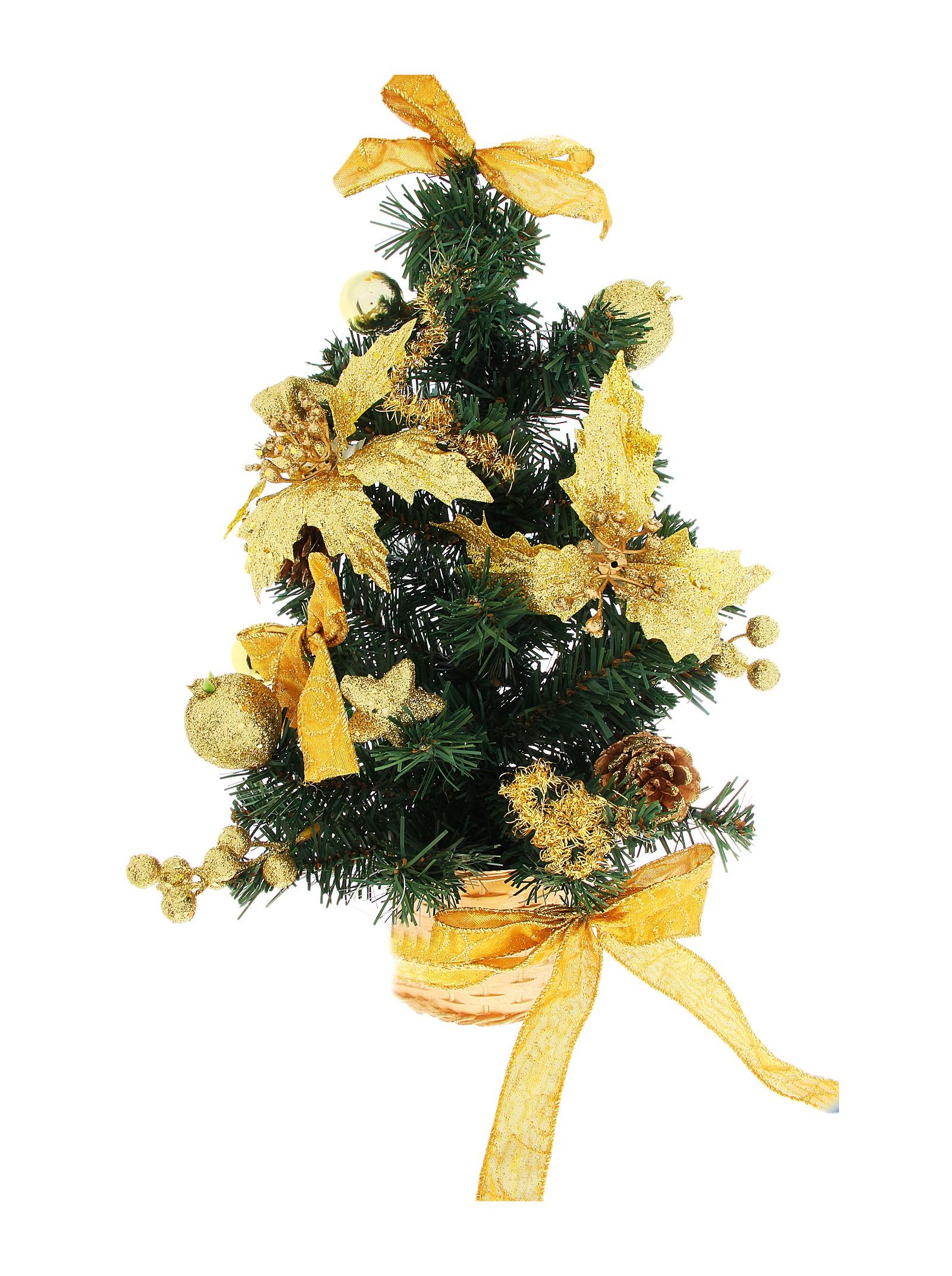 Декоративное украшение Новогодняя елочка. 717986145-109Оригинальный дизайн новогодней елки притягивает к себе восторженные взгляды. Елка настенная украшена золотистыми шишками, блестящими лентами, ягодами, шариками и цветами. Елка украсит интерьер вашего дома или офиса к Новому году и создаст теплую и уютную атмосферу праздника.Откройте для себя удивительный мир сказок и грез. Почувствуйте волшебные минуты ожидания праздника, создайте новогоднее настроение вашим дорогим и близким. Характеристики: Материал:пластик. Высота елки:45 см. Изготовитель:Китай. Артикул:717986.