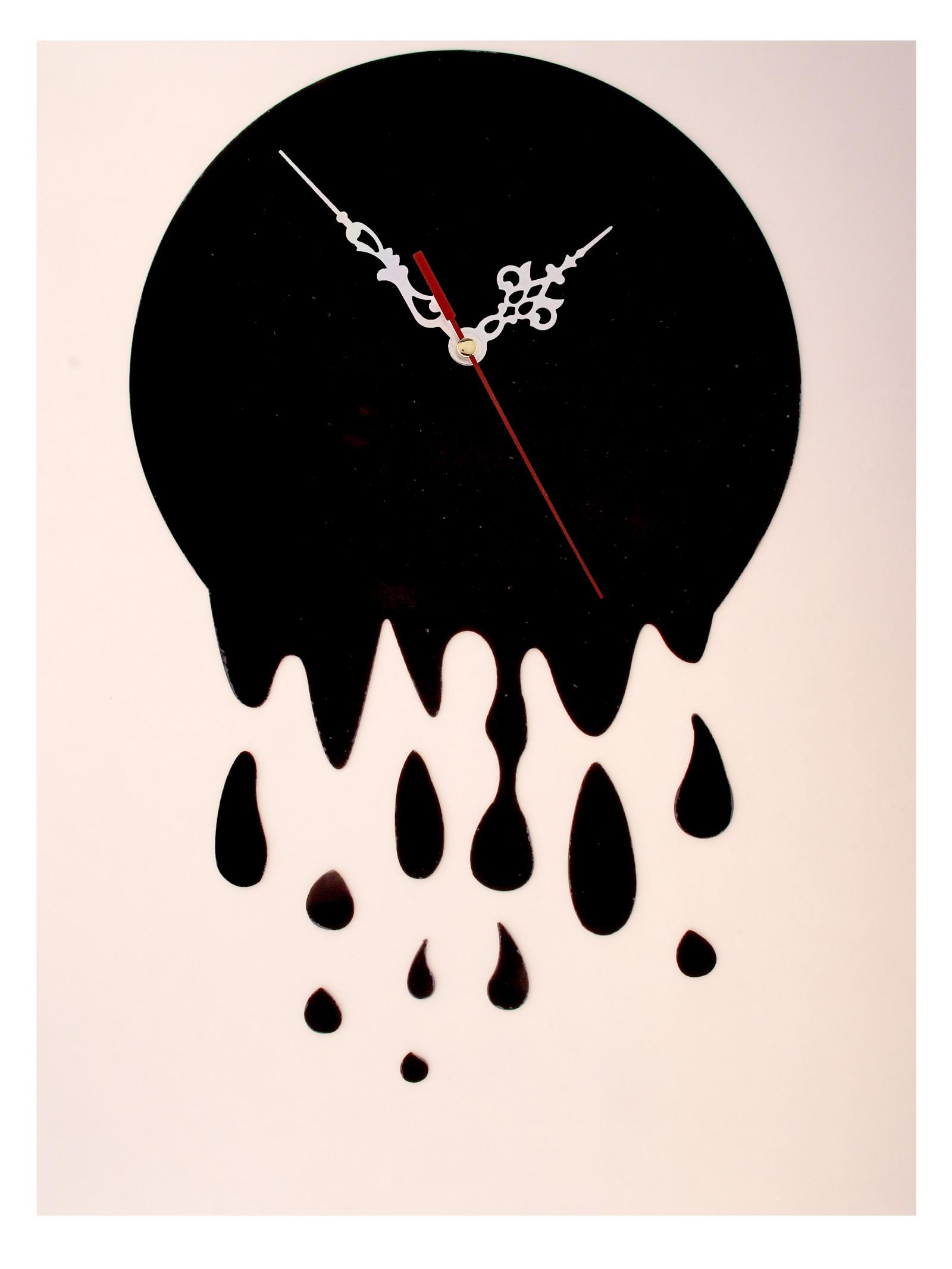 Часы-наклейка Капли, 60 см х 44 см. 729548