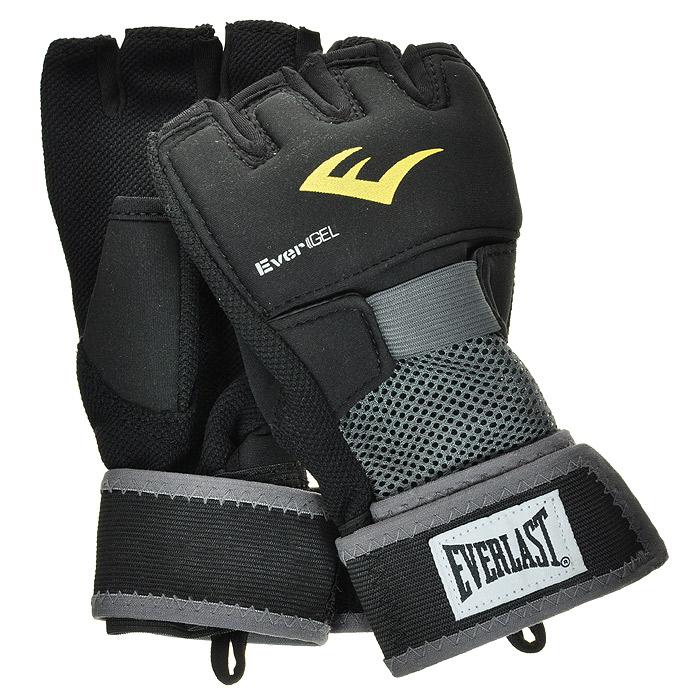Перчатки гелевые Everlast  Evergel, цвет: черный. Размер XL перчатки без пальцев шерстяные с рисунком розовые