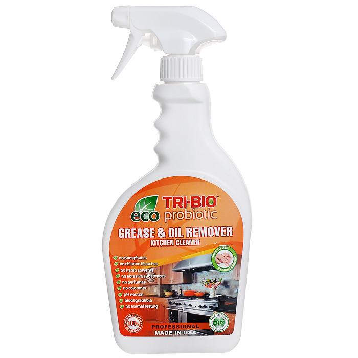 Биосредство для удаления жиров и масел Tri-Bio, 420 мл787502Биосредство Tri-Bio предназначено для чистки кухонной плиты, духовки, вытяжки, микроволновой печи, кухонных поверхностей, пола и др. Эффективно даже при сильном застарелом загрязнении. Ликвидирует запахи, легко проникает в швы, позволяет обеспечить более длительный контроль запаха и более глубокую чистку.Особенности биосредства Tri-Bio для здоровья:Без фосфатов, без растворителей, без хлора отбеливающих веществ, без абразивных веществ, без отдушек, без красителей, без токсичных веществ, нейтральный pH, гипоаллергенно. Безопасная альтернатива химическим аналогам. Присвоен сертификат ECO GREEN. Рекомендуется для людей склонных к аллергическим реакциям и страдающих астмой.Особенности биосредства Tri-Bio для окружающей среды:Низкий уровень ЛОС, легко биоразлагаемо, минимальное влияние на водные организмы, рециклируемые упаковочные материалы, не испытывалось на животных. Особо рекомендуется использовать в домах с автономной канализацией.Способ применения:Хорошо взболтайте средство. Распылите непосредственно на поверхности или на влажную губку, оставьте на несколько минут, затем потрите щеткой или губкой, смойте водой. Для более сильных загрязнений оставьте средство на поверхности на 3-5 минут. Для мойки разбавьте 20 мл средства на ведро воды. Характеристики:Объем:420 мл. Размер бутылки:11,5 см х 3,5 см х 26 см. Размер упаковки:11,5 см х 3,5 см х 26 см. Состав:Пробиотическое средство содержащее: воду, микроорганизмы (класс 1 непатогенные ), Alkyl(C9-11) alcohol, ethoxylated (органический, из кокосового масла, пальмового масла или сои), C12-15, ethoxylated (органический, из кокосового масла, пальмового масла или сои), Sodium salt of fatty C12-14 alcohol ether(2 EO)sulfate (органический, из кокосового масла), 1,2-propanediol (органический, из морских водорослей), Энзимы (ферменты), Sorbitol (органический, сахарный спирт), Сода, Kathon CG (эко, консервант для бытовой продукции, без формальдегида и галогенов) Произво