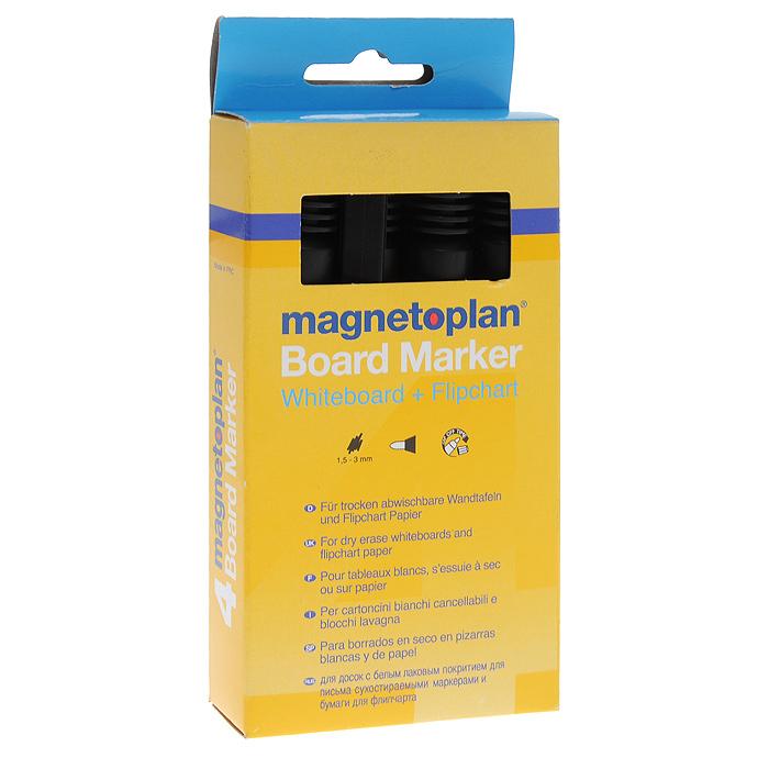 Набор маркеров Magnetoplan, 4 штFS-36052Набор черных маркеров Magnetoplan предназначен для письма и рисования как на бумаге для флипчарта, так и на белой доске с лаковым покрытием в школе или офисе.Набор включает в себя четыре маркера черного цвета. Корпус маркеров выполнен из пластика. Влагоустойчивые чернила на спиртовой основе быстро сохнут и не размазываются. Круглый наконечник дает аккуратную четкую линию.Набор упакован в коробку с европодвесом. Характеристики:Материал корпуса: пластик. Длина маркера (с учетом колпачка): 13,5 см. Толщина линии: 1,5-3 мм. Размер упаковки: 7,5 см х 16 см х 2 см.Изготовитель: Китай.