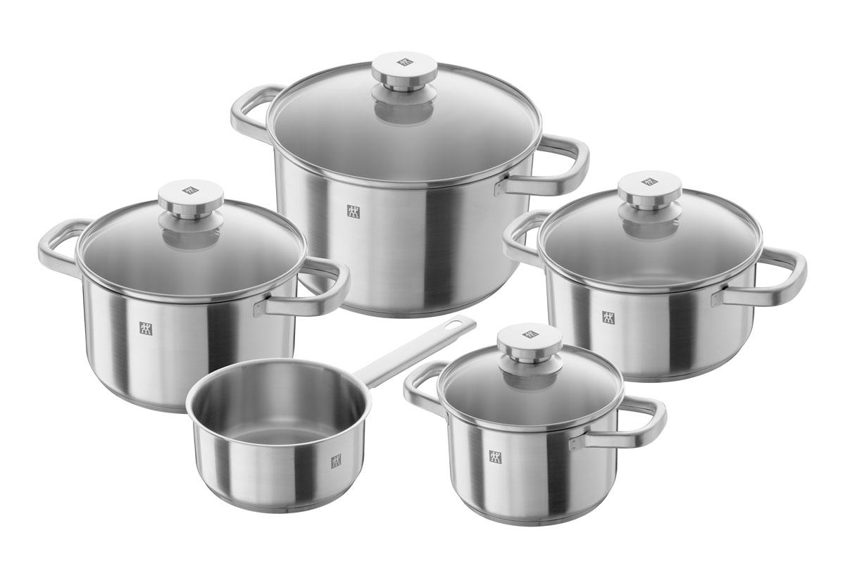 Набор посуды Zwilling Joy, 9 предметов. 64040-006 kitchenaid набор керамических кастрюль 0 5 л 0 9 л 1 8 л 3 3 л черные 4 шт