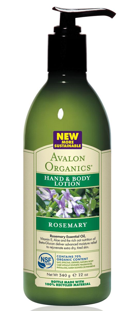 Avalon Organics Лосьон для рук и тела Розмарин, 360 млFS-00897Уникальный комплекс с легким, древесно-пряным ароматом, с изобилием омолаживающих энергетических масел, усиленный бета-глюканами и экстрактом дикого ямса, является великолепным источником здоровья и красоты. Восполняя дефицит липидов, активизируя микроциркуляцию, улучшая крово- и лимфообращение, стимулирует регенерацию и деление клеток, мгновенно устраняет обезвоженные ороговевшие участки, быстро восстанавливает упругость и эластичность кожи. Характеристики:Объем: 360 мл. Артикул: AV35210. Производитель: США. Товар сертифицирован.