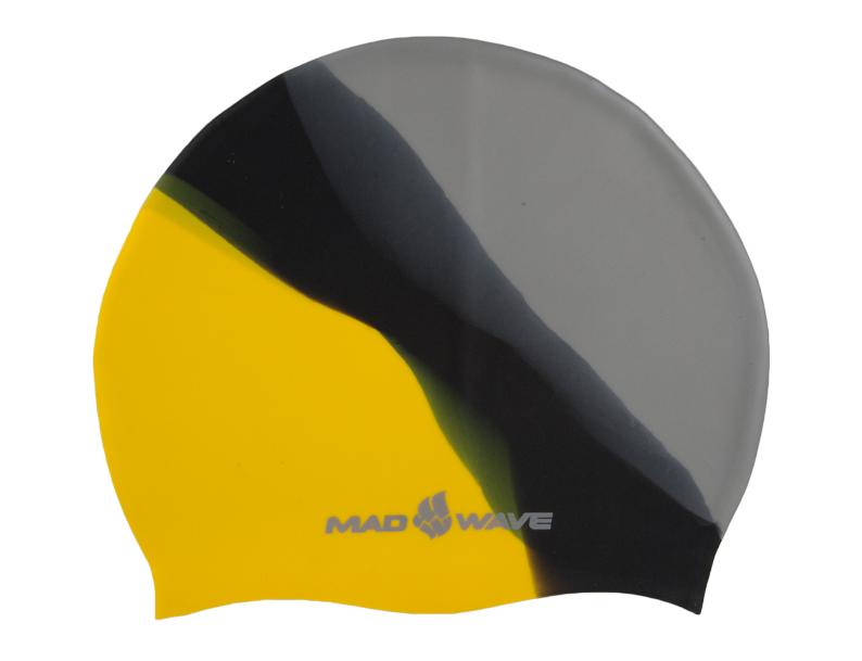 Шапочка для плавания MadWave Multi Big, силиконовая, цвет: серый, черный, желтыйTS V-31 NBLШапочка для плавания MadWave Multi Big классической плоской формы увеличенного размера. Изготовлена из высококачественного силикона устойчивого к воздействию хлорированной воды, что обеспечивает долгий срок использования. Характеристики: Материал: силикон. Размер шапочки: 23 см x 19 см. Производитель: Китай.Артикул: M0531 11 2 06W.
