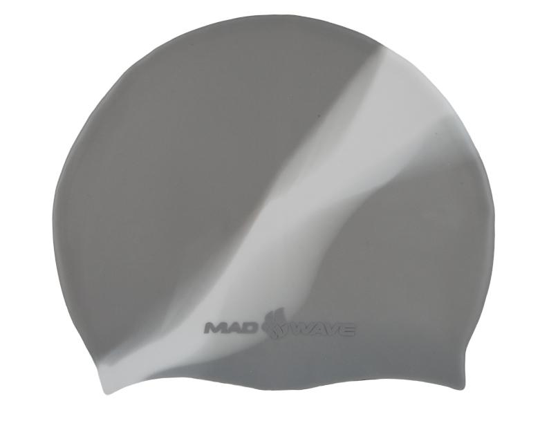 Шапочка для плавания MadWave Multi Big, силиконовая, цвет: серый, белыйLCSLШапочка для плавания MadWave Multi Big классической плоской формы увеличенного размера. Изготовлена из высококачественного силикона устойчивого к воздействию хлорированной воды, что обеспечивает долгий срок использования. Характеристики: Материал: силикон. Размер шапочки: 23 см x 19 см. Производитель: Китай.Артикул: M0531 11 2 17W.