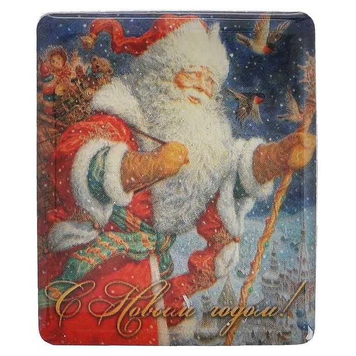Декоративный магнит Дед Мороз, 6 см х 5 см. 31498LSL-6101-01Декоративный магнит прямоугольной формы Дед Мороз выполнен из агломерированного феррита и оформлен изображением Деда Мороза и надписью С Новым годом!. Магнит отлично подойдёт для декорирования Вашего интерьера. Новогодние украшения всегда несут в себе волшебство и красоту праздника. Создайте в своем доме атмосферу тепла, веселья и радости, украшая его всей семьей. Характеристики:Материал: агломерированный феррит, магнит. Размер: 6 см х 5 см. Размер упаковки: 9,5 см х 7 см х 0,5 см. Производитель: Китай. Артикул: 31498.