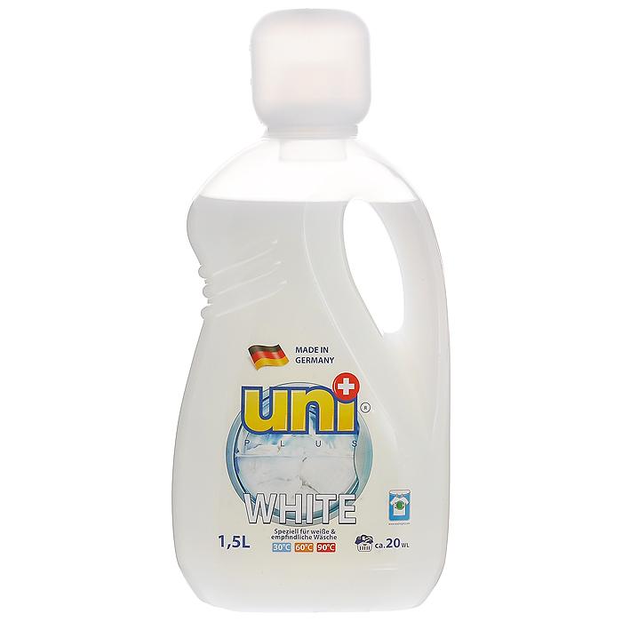 Жидкое средство UniPlus White для стирки белых и деликатных тканей, 1,5 лS03301004Жидкое средство UniPlus White подходит для стирки белых и деликатных тканей. Эффективно отстирывает, и вместе с тем защищает одежду во время стирки. Специальная формула обеспечивает белизну вещей, без труда удаляет из ткани въевшуюся желтизну и серость. Средство не содержит хлор и другие агрессивные вещества, благодаря чему не разрушается структура красок и тканей. Хорошо выполаскивается и не оказывает вредного влияния на кожу.После применения жидкого средства для стирки UniPlus ткань приобретает приятный аромат, мягкость, становится приятной на ощупь.Жидкость эффективно отстирывает при температурах от 30°С до 90°С. Предназначена для стирки в стиральных машинах любого типа и для ручной стирки.Не применять для стирки изделий из натурального шелка.В составе средства содержаться компоненты, которые защищают стиральную машину от образования известковых наслоений, что продлевает срок службы стиральной машины. Характеристики: Объем: 1,5 л. Артикул: 200131. Товар сертифицирован.